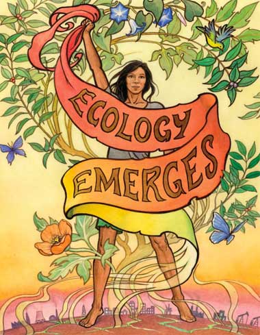Ecology Emerges poster art by Mona Caron